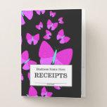 "[ Thumbnail: ""Receipts"" + Swarm of Artistic Butterflies Pocket Folder ]"