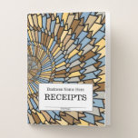"[ Thumbnail: ""Receipts"" + Wheat Harvest Colors Spiral Pattern Pocket Folder ]"