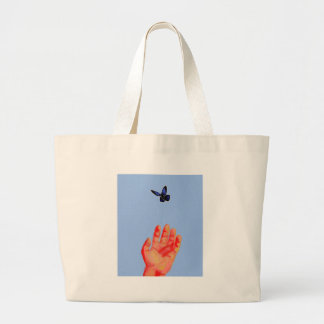 Receive (blue) - butterfly tote bag