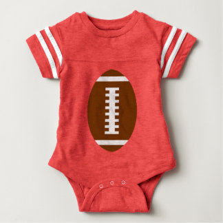 RECEIVE ME• Football Baby Red+Yellow | Back Jersey Tees