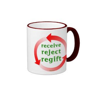 Receive Reject Regift Ringer Mug