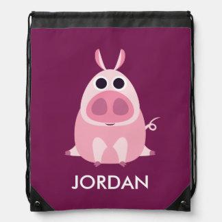 Receloso el cerdo mochilas