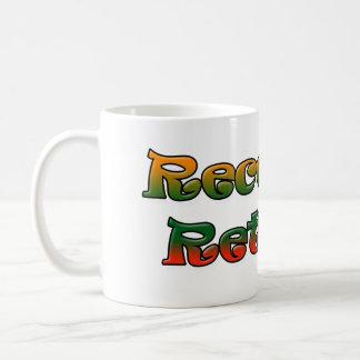Recently Retired Gradient Text Coffee Mug Retiree