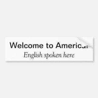 Recepción a América Pegatina De Parachoque