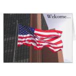 ¡Recepción a América!  Congratualtions/ciudadanía Tarjeta De Felicitación