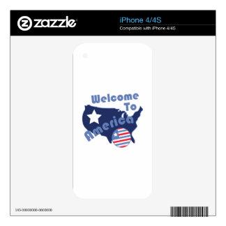 Recepción a América Calcomanía Para iPhone 4S