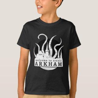 Recepción a Arkham escénico Playera