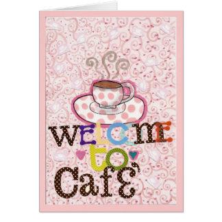 Recepción a Cafe Tarjeta De Felicitación