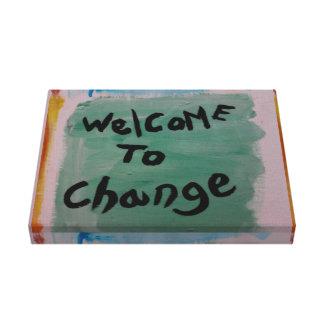 recepción a cambiar lona estirada galerías
