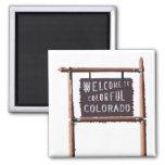 recepción a Colorado colorido Imanes Para Frigoríficos