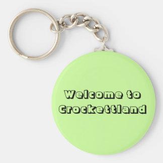 Recepción a Crockettland Llavero Redondo Tipo Pin