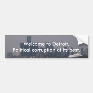 Recepción a Detroit Pegatina De Parachoque