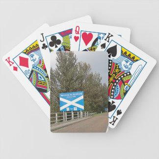 Recepción a Escocia - muestra de frontera Cartas De Juego