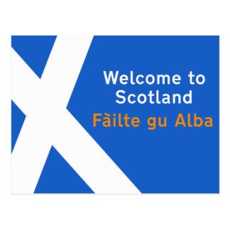 Recepción a Escocia, muestra, Reino Unido Tarjetas Postales