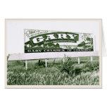 Recepción a Gary Indiana (muestra del vintage) Felicitacion