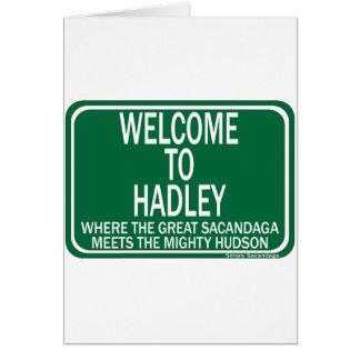 Recepción a Hadley Tarjeta De Felicitación