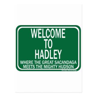 Recepción a Hadley Tarjeta Postal