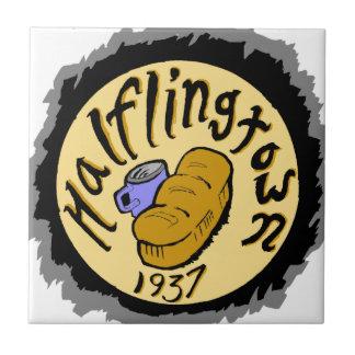 Recepción a Halflingtown Azulejo Cuadrado Pequeño