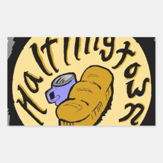 Recepción a Halflingtown Pegatina Rectangular