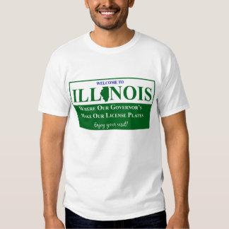 Recepción a Illinois - donde nuestro gobernador… Playera