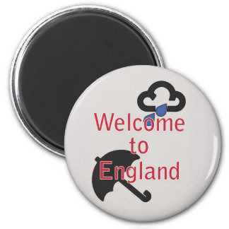 ¡Recepción a Inglaterra! Imán Redondo 5 Cm