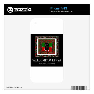 Recepción a Kenia Hakuna Matata Skins Para eliPhone 4S