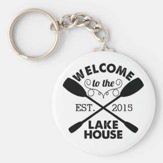 Recepción a la casa del lago llavero redondo tipo pin