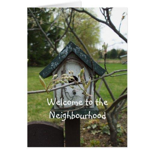 Recepción a la casa del Vecindad-pájaro Tarjeta De Felicitación