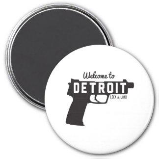 Recepción a la cerradura y a la carga de Detroit Imán De Nevera