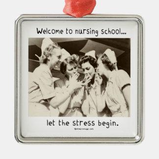 Recepción a la escuela de enfermería - deje la ornamento para arbol de navidad
