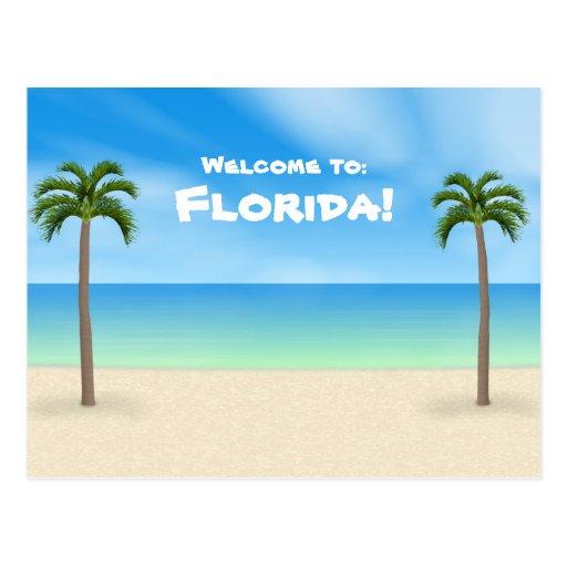 Recepción a la Florida: Postal de la escena de la
