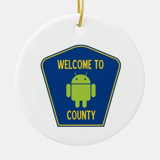Recepción a la muestra androide del condado (de adorno redondo de cerámica