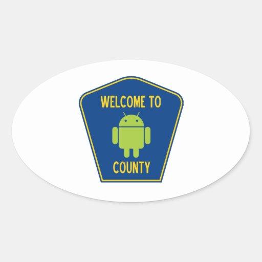 Recepción a la muestra androide del condado (de pegatina ovalada