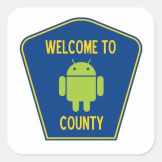 Recepción a la muestra androide del condado (de pegatina cuadrada