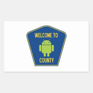 Recepción a la muestra androide del condado (de pegatina rectangular