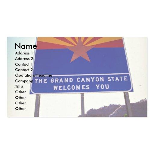 Recepción a la muestra de Arizona en Lupton, desie Plantilla De Tarjeta Personal