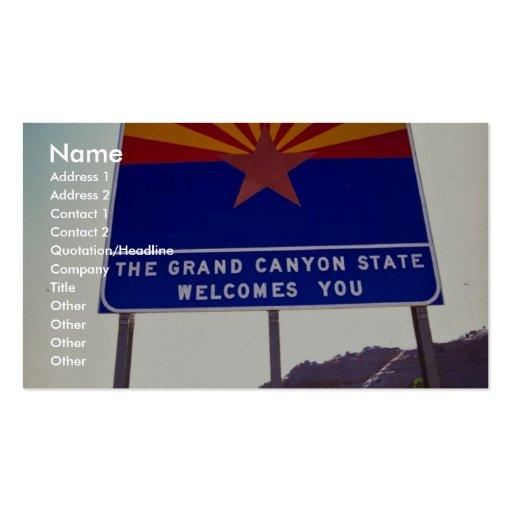 Recepción a la muestra de Arizona en Lupton, desie Plantilla De Tarjeta De Negocio