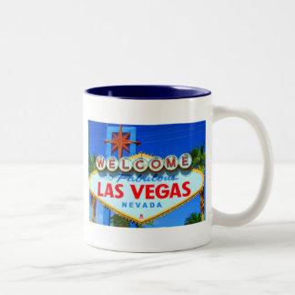 Recepción a la muestra de Las Vegas Taza Dos Tonos