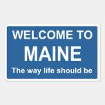 Recepción a la muestra de Maine - pegatina