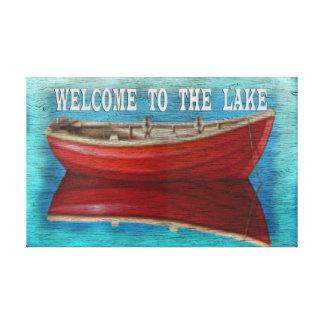 Recepción a la placa de la lona del lago impresiones en lona estiradas
