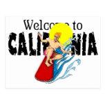 Recepción a la postal de California