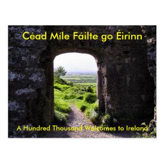 Recepción a la postal de Irlanda