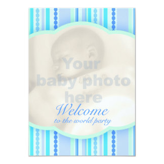 Recepción a la tarjeta de la invitación del bebé