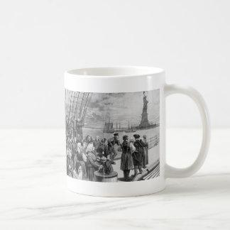 Recepción a la tierra de la libertad de la isla de taza de café