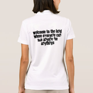Recepción a la tierra en donde cada uno puede polo tshirts
