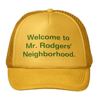 Recepción a la vecindad de Sr. Rodgers Gorros Bordados