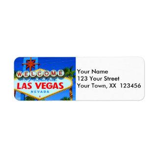 Recepción a las etiquetas del remite de Las Vegas Etiqueta De Remite