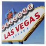 Recepción a Las Vegas fabuloso Azulejo Cuadrado Grande