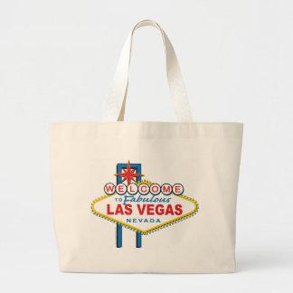 Recepción a Las Vegas fabuloso Bolsa Tela Grande