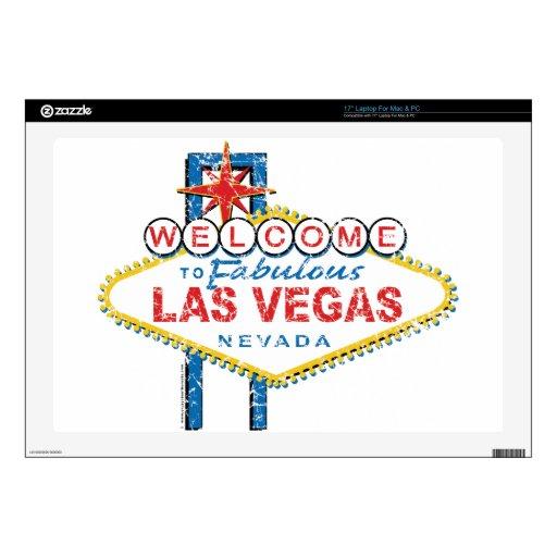 Recepción a Las Vegas fabuloso Calcomanías Para Portátiles